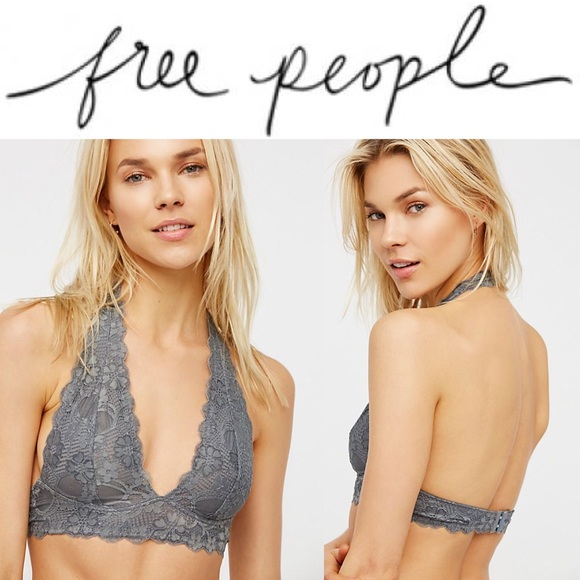 05945a553fd NWT Galloon Lace Halter Bralette in Graphite! 🌚